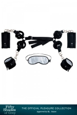 Kit d'attaches pour  lit - Fifty Shades Of Grey : Coffret de Bondage spécial lit Hard Limits, par Fifty Shades Of Grey.