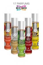 Lubrifiant Jo H2O Aromatisé - 30 ml : Lubrifiant comestible, à base d'eau, format voyage (30ml), marque System Jo. 17 parfums différents.