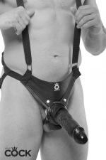 Gode ceinture creux 25 cm - noir