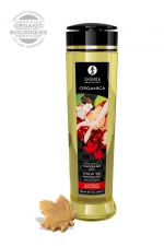 Huile de massage BIO Délice d'érable - Shunga : Huile de massage érotique BIO et embrassable au parfum de sirop d'érable par Shunga.