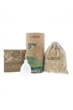 Cup menstruelle blanche grande taille - Liebe : Coupe menstruelle 100% silicone, pratique et hygiénique, écologique et réutilisable, modèle taille L coloris blanc, marque Liebe.