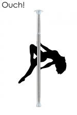 Barre de Pole Dance - Argent : Devenez la reine du strip-tease érotique avec la barre de Pole Dance couleur argent par Ouch!.