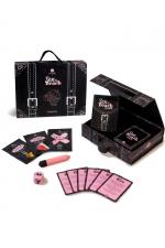 Kit de voyage Sex On The Beach - Secret Play : Magnifique coffret de jeu coquin sur le thème du sexe à la plage, avec cartes challenges, sextoy, et accessoires sexy.