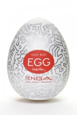 Tenga Egg party - Keith Haring : Masturbateur Tenga EGG Party , un sextoy collector avec design et texture exclusive.