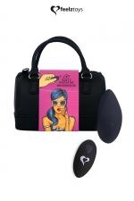 Stimulateur télécommandé Panty Vibe noir - FeelzToys : Présenté dans un superbe mini sac à main, Feelztoys vous propose un stimulateur clitoridien télécommandé très puissant.