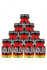 Pack 10 Poppers Adler 10ml : Pack de 10 Flacons de 10 ml de Poppers Adler, arôme liquide érotique à base de Nitrite de Penthyl (le plus fort).