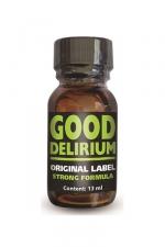 Poppers Good Délirium : Good Délirium est un poppers aux effets intenses, à base d'isopropyle, en flacon concentré de 13ml.