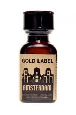Poppers Amsterdam Gold Label 24 ml  : La nouvelle référence de poppers de La marque Amsterdam,  à base de Nitrite d'Amyl.