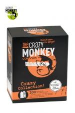 Assortiment 100 Préservatifs Crazy Monkey : Crazy Monkey présente sa crazy collection avec un assortiment de 100 préservatifs pour satisfaire toutes vos envies.